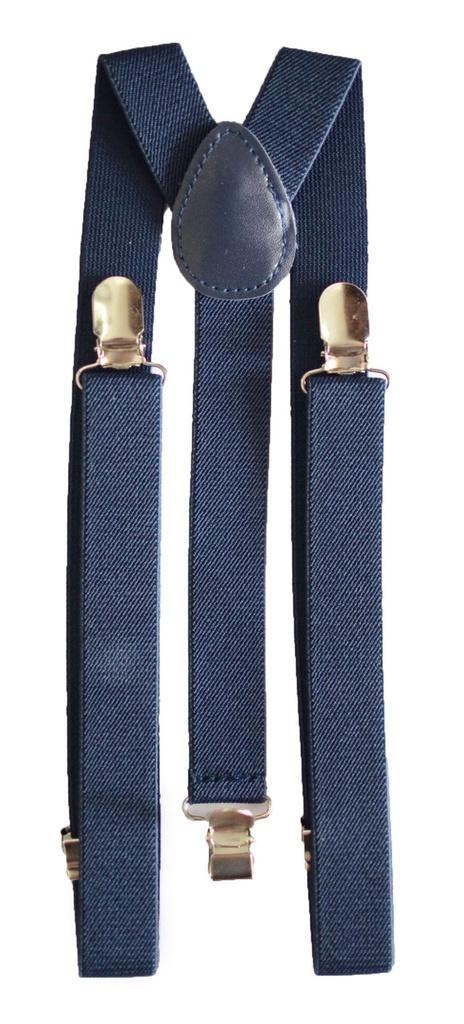 Suspensório Unissex Azul Marinho 2,5 cm