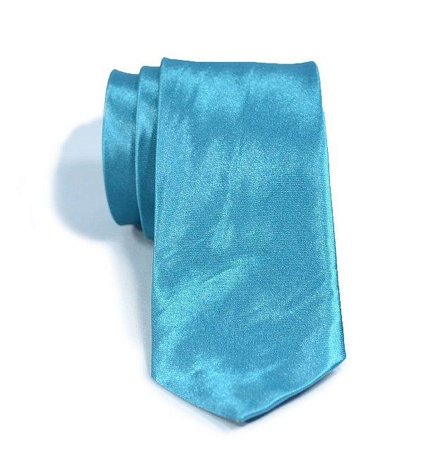 Gravata Slim Fit Azul Celeste