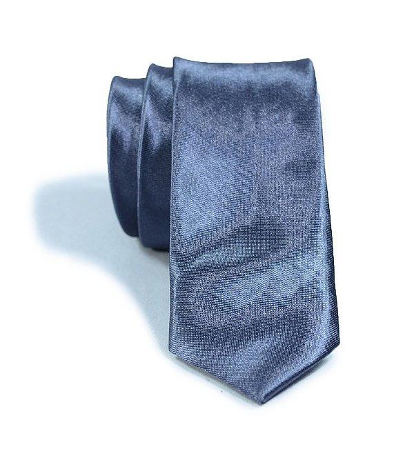 Gravata Slim Fit Cinza Escuro
