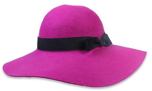 Chapéu Floppy Violeta Aba Grande Maleável Laço