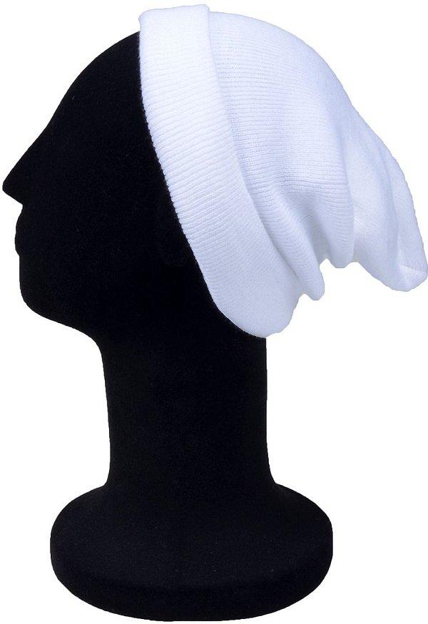 Touca Gorro lisa Curta Lã Branca
