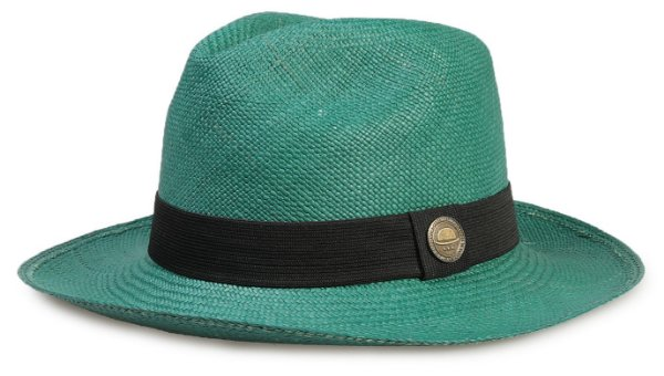 Chapéu Panamá Colorido Verde Aba Média