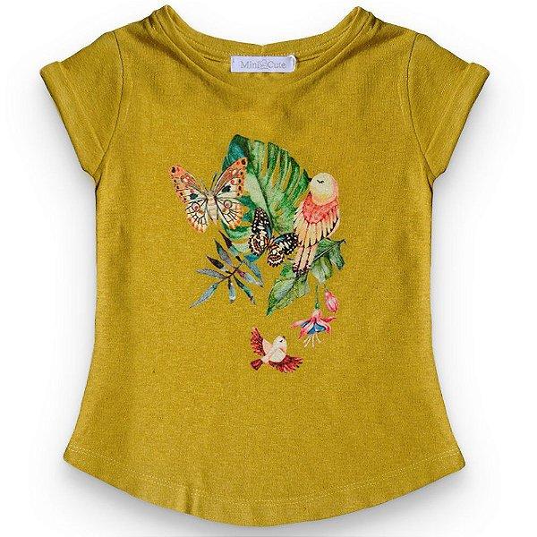 Camiseta linho borboletas