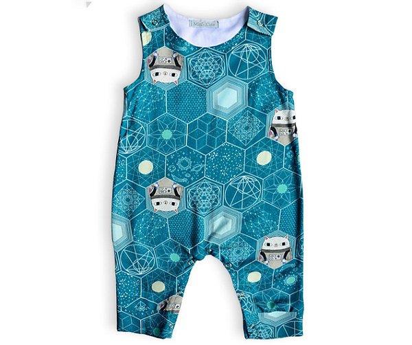 Macacão infantil estampado astronauta