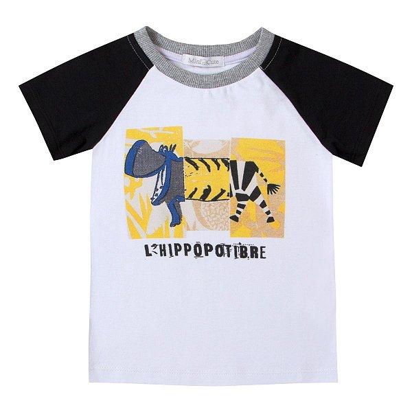 Camiseta infantil haglan Hipopotámo