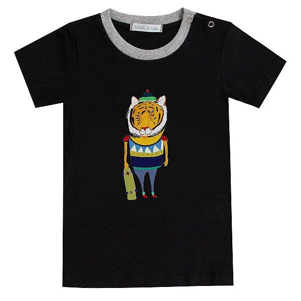 Camiseta tigrão skate preta