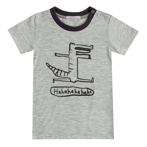 Camiseta infantil estampada jacaré HAHA