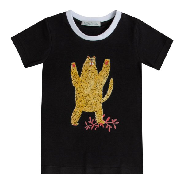 Camiseta infantil estampada oncinha