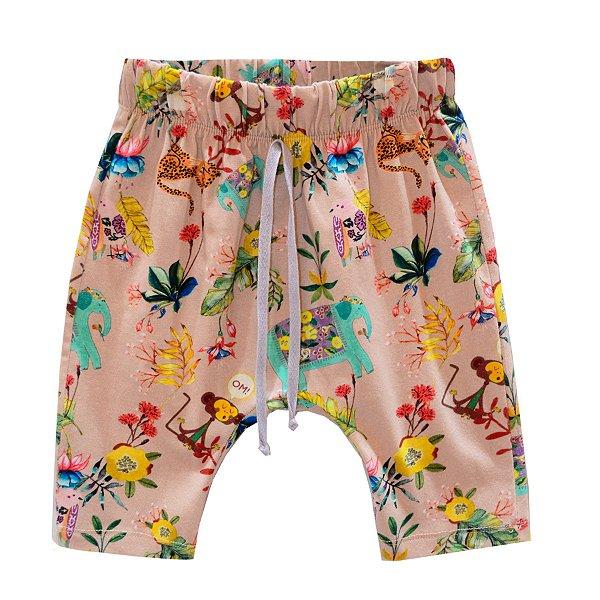 Shorts saruel estampado nude
