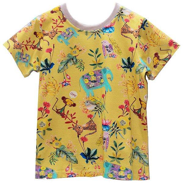 Camiseta estampada amarelo