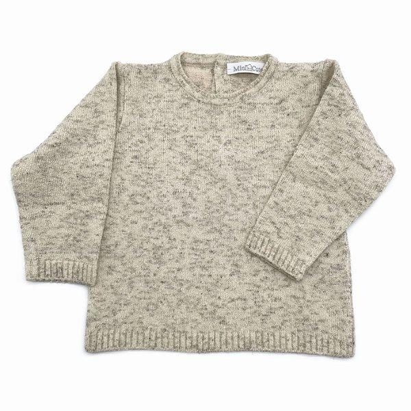 Blusa infantil tricot botão costas