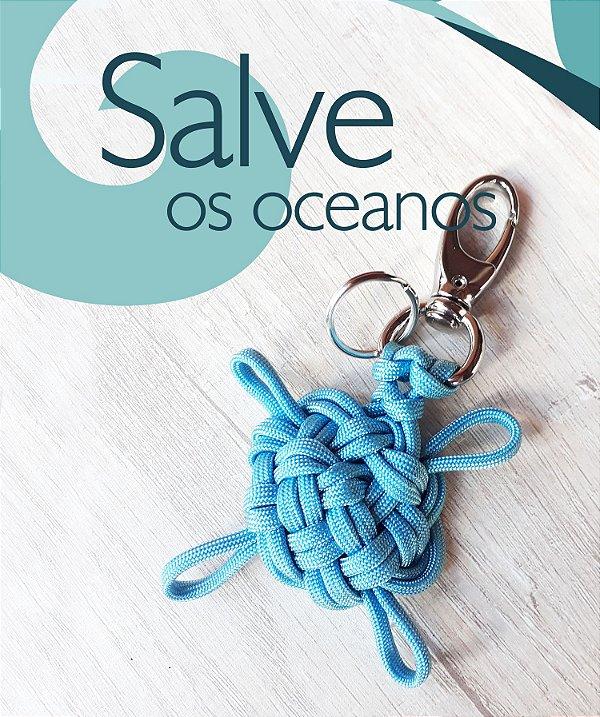 Chaveiro Tartaruga - Marinha Flow #salveosoceanos