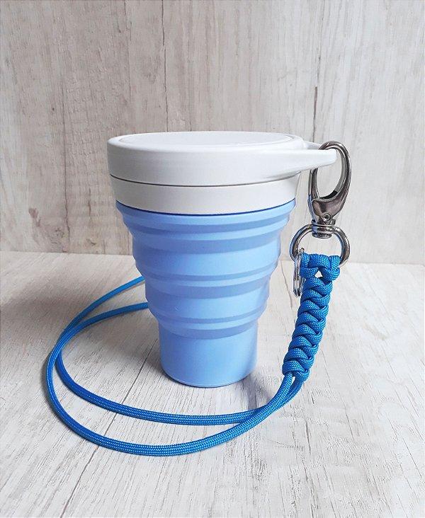 KIT União / Copo Menos1Lixo Lilás + Lanyard Azul Celeste PROMOÇÃO