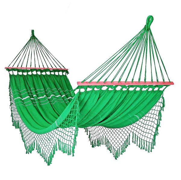 Rede De Dormir Descanso Verde Bandeira Com madeira
