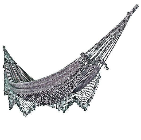 Rede de Dormir Descanso Casal Super King Cinza Gigante