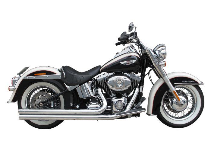 """Escapamento Torbal Harley Davidson Deluxe 2005 a 2011 2"""" 1/4 Long Reto"""