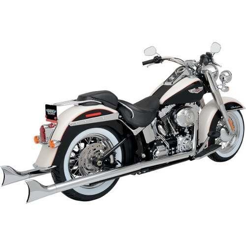 """Escapamento Torbal Rabo Peixe Harley Davidson Deluxe 2012 a 2017 Duo Chicano 2 """" Pol Reto"""