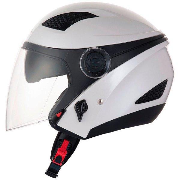 Capacete Moto Zeus 610 Aberto New City Pearl Branco