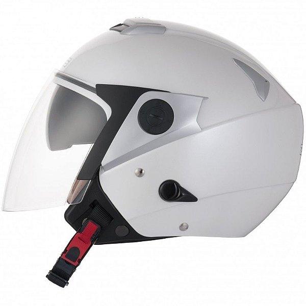 Capacete Moto Zeus 202FD Premium Pearl White Aberto