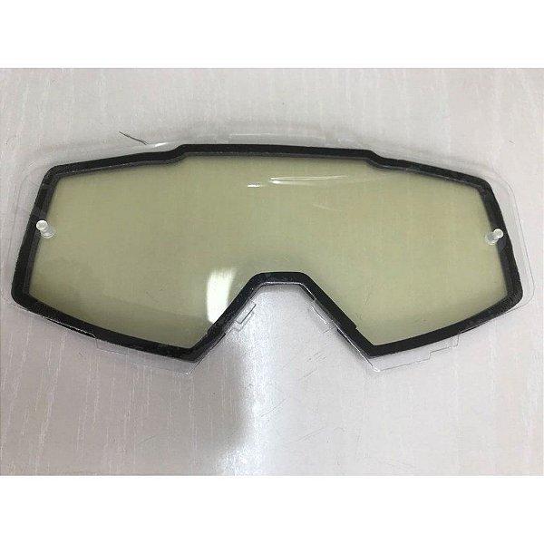 Lente de Reposição Dupla Transparente Oculos Red Dragon modelo EFX YH-105