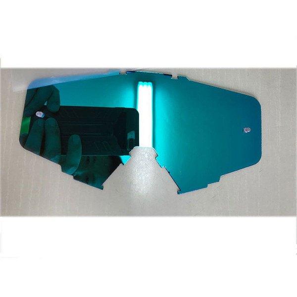 Lente de Reposição simples Espelhada Azul Oculos Red Dragon modelo EFX YH-105