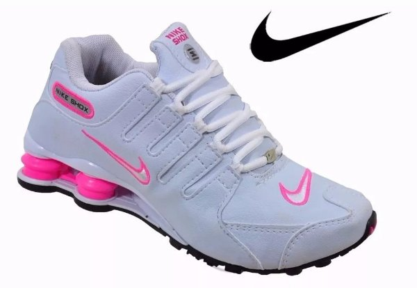 tenis nike shox nz feminino branco e rosa