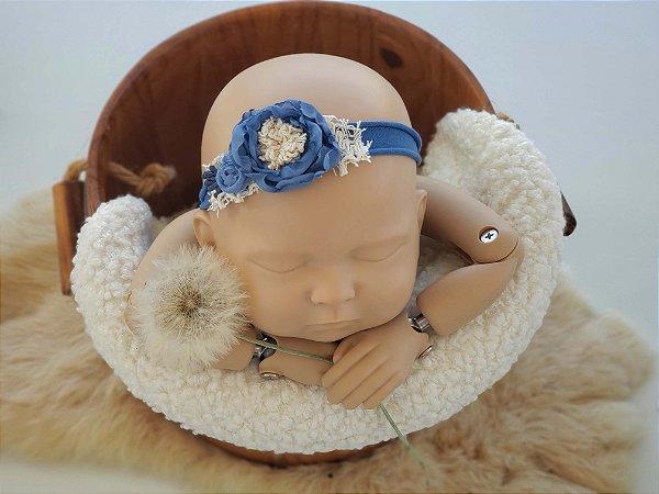 Headband Heloisa Azul Jeans