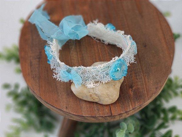 Coroa Flor e Laço Azul