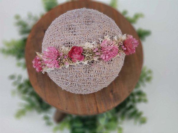 Coroa Suculenta Rosa