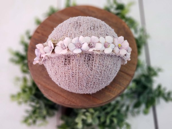 Coroa Flores Rosa Clarinha