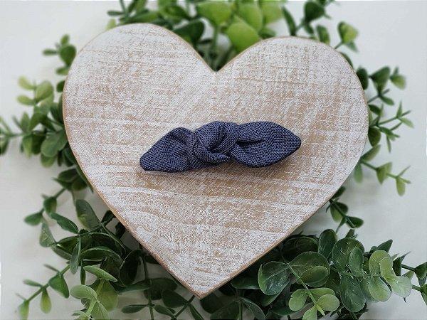 Laço Linho Azul Jeans Presilha