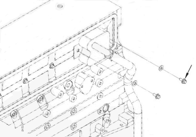 parafuso da tampa lateral de varetas cummins serie b m8x1,25