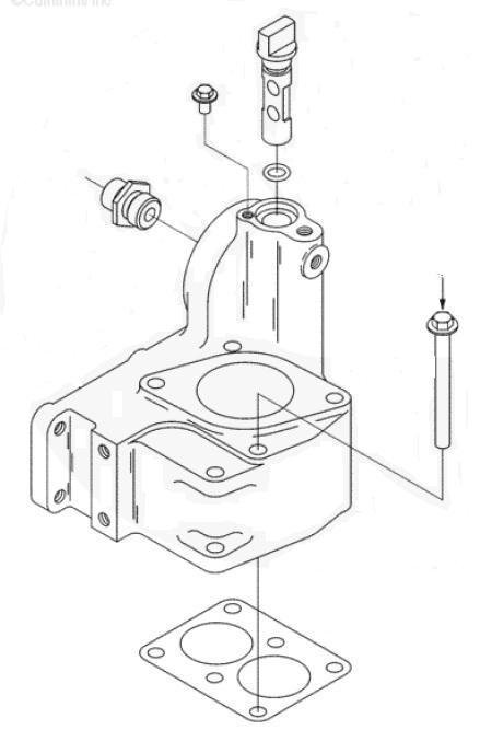 parafuso do suporte da carcaca do termostato cummins serie c
