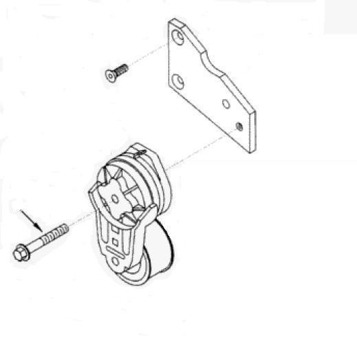 parafuso tensionador correia serie b