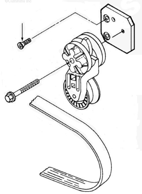 parafuso suporte tensionador correia serie c