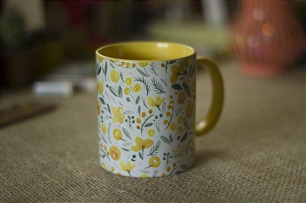 Flores Aquareladas - Amarelas