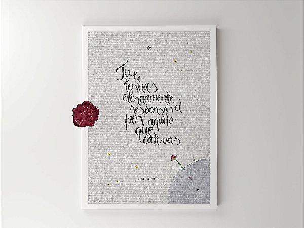 Print - Pequeno Príncipe - Cativar - Rosa