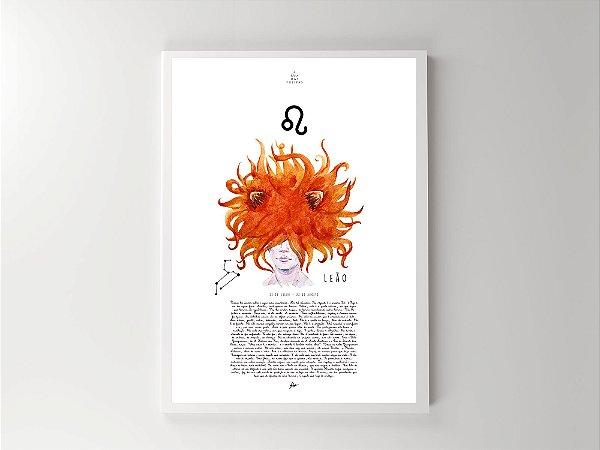 Print - Signos - Leão