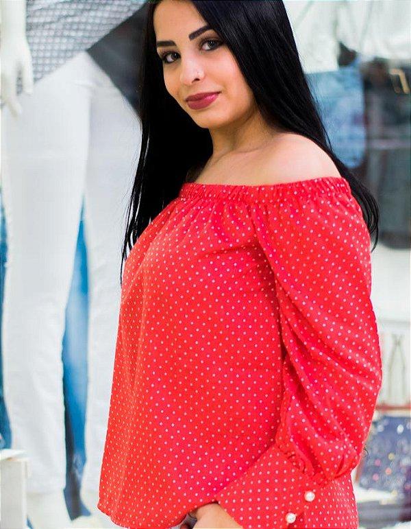 1fe1c112c Camisa Feminina Ombro a Ombro Vermelha - Live Store