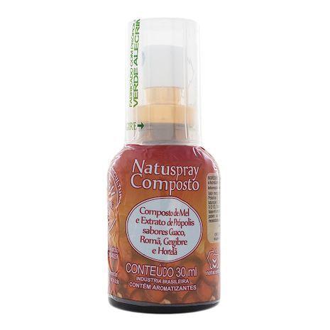 Spray de Mel e Extrato de Própolis - Natuspray Composto 30mL - Natucentro