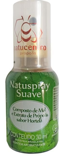 Spray de Mel e Extrato de Própolis - Natuspray Suave 30mL - Natucentro