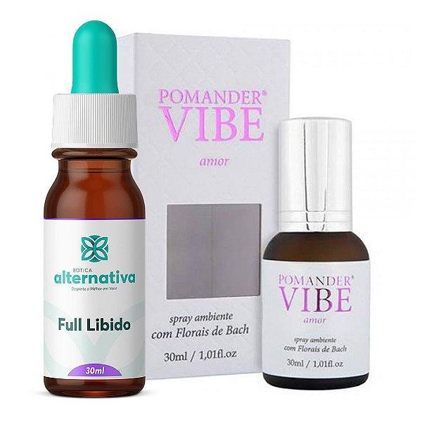 Kit Mais Amor - Full libido 30mL + Floral Spray Ambiente Amor Vibe 30mL