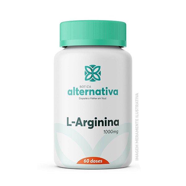 L-Arginina 1000mg 60 doses Cápsulas Vegetais