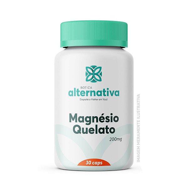 Magnésio Quelato 200mg 30 Cápsulas Vegetais
