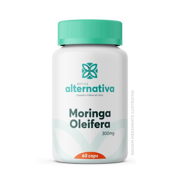 Moringa Oleifera 300mg 60 Cápsulas Vegetais