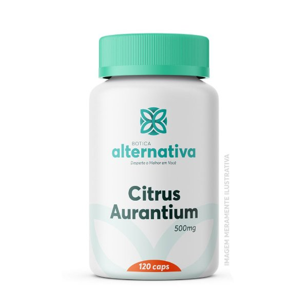 Citrus Aurantium 500mg 120 Cápsulas Vegetais