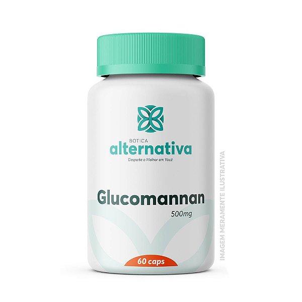 Glucomannan 500mg 60 Cápsulas Vegetais