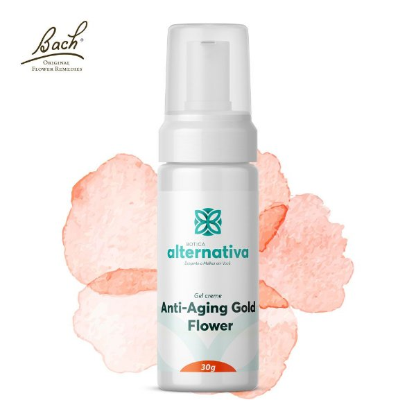 Anti aging Gold Flower 30+ Creme facial com Rescue 30g