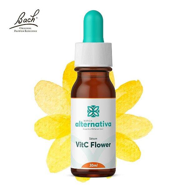 VitC Flower - Vitamina C 10% + Floral de Bach Rescue Serum Gotas 30mL