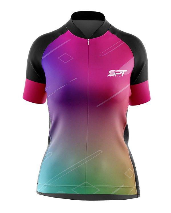 Camisa de Ciclismo Manga Curta Feminina Proteção Solar FPU 50+ Marca SPT - 01